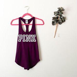 Victoria's Secret PINK Maroon Athletic Tank Top XS
